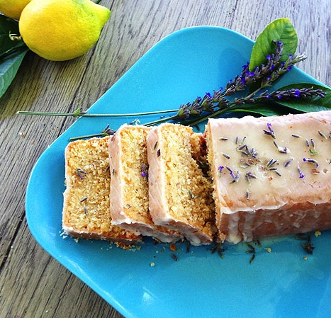 Meyer lemon cake with lavender