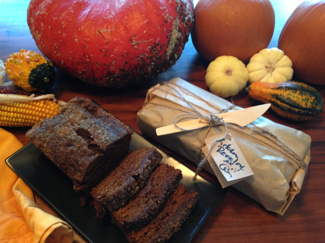 Pumpkin bread with sticky molasses