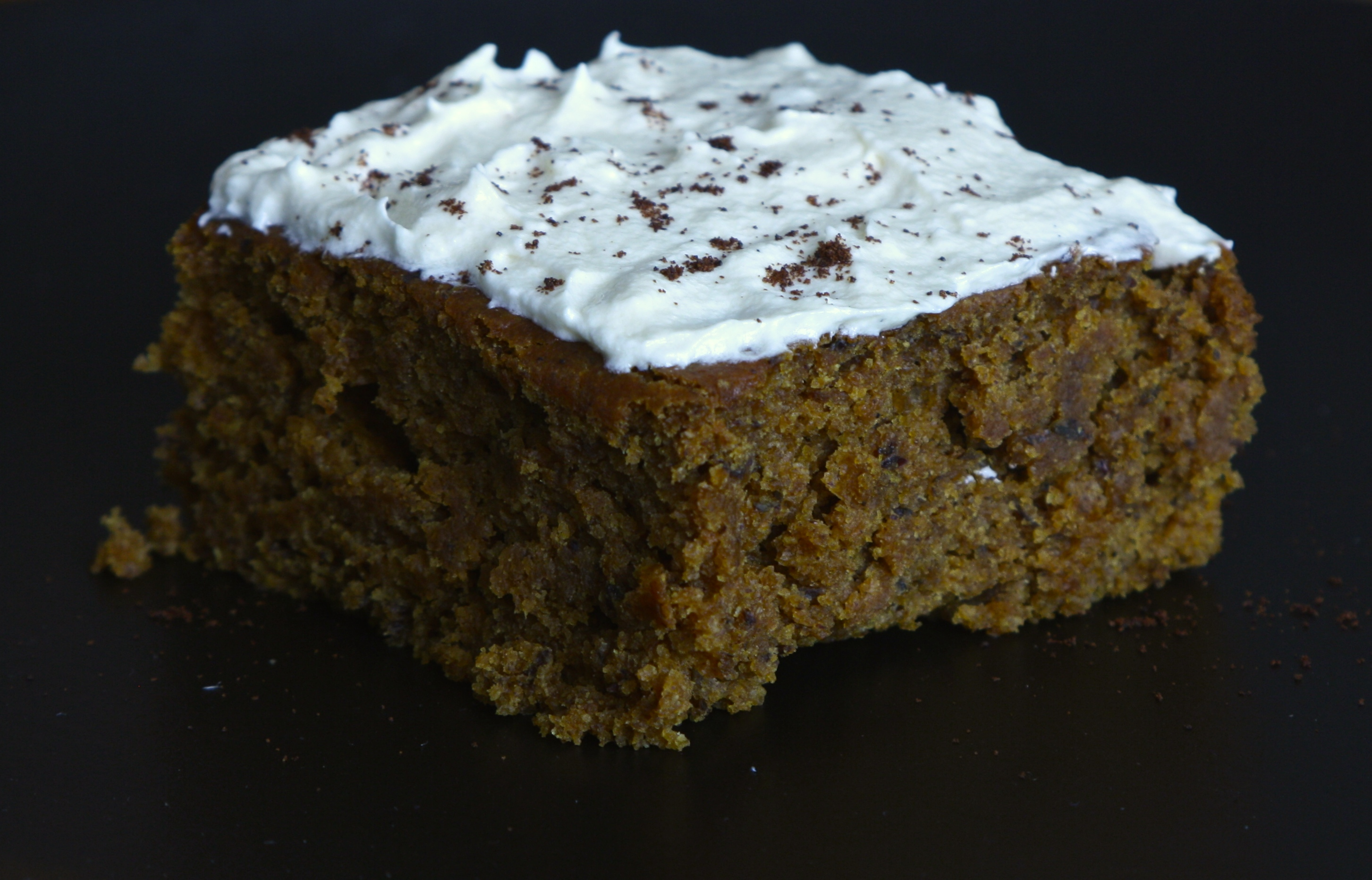 Pumpkin Snack Cake With Spiced Whipped Cream